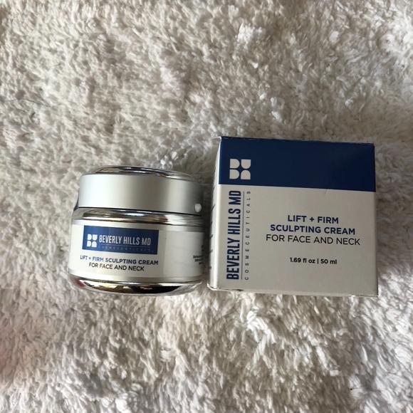Beverly Hills Md Lift + Firm Sculpting Cream Tightens Face And Neck Skin - 50 Ml 18% Vitamin C Serum - 1 oz